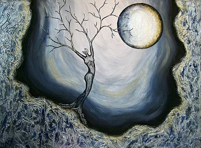 Silver Moonlight Painting - Vinternatt by Sylvia Sotuyo