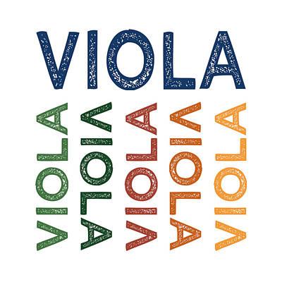 Viola Cute Colorful Print by Flo Karp