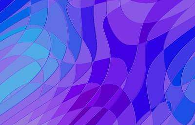Violet Blue Abstract Print by L Brown