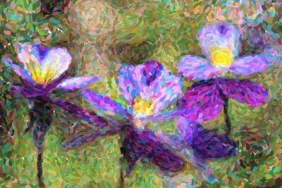 Copy Mixed Media - Violet Flowers by Toppart Sweden