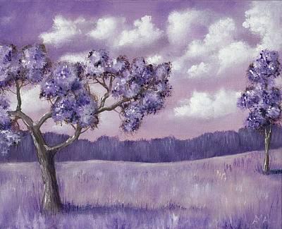 Thoughts Painting - Violet Mood by Anastasiya Malakhova