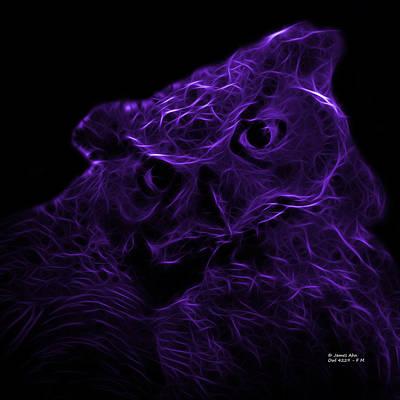Violet Owl 4229 - F M Print by James Ahn