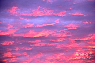 Violet Sunrise Print by Jay Nodianos