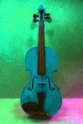 Violin - 20130111 V2 Print by Wingsdomain Art and Photography