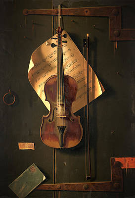 Violin Digital Art - Violin by Gary Grayson