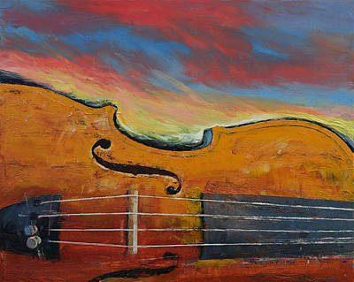 Strings Painting - Violin by Michael Creese