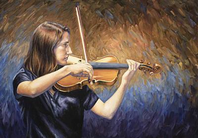 Violinist Original by Lucie Bilodeau
