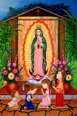 Virgen De Guadalupe Painting - Virgen De Guadalupe #3 by Evangelina Portillo