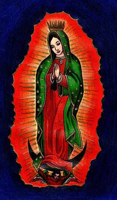 Virgen De Guadalupe Painting - Virgen De Guadalupe by Elaan Yefchak