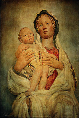 Louvre Digital Art - Virgin And Child  by Maria Angelica Maira