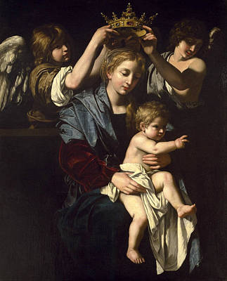 Bartolomeo Cavarozzi Painting - Virgin And Child With Angels by Bartolomeo Cavarozzi