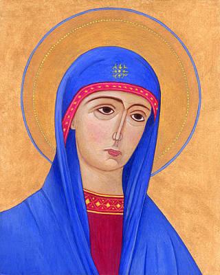 Greek Icon Painting - Virgin Mary 1 by Jacqueline Savidge