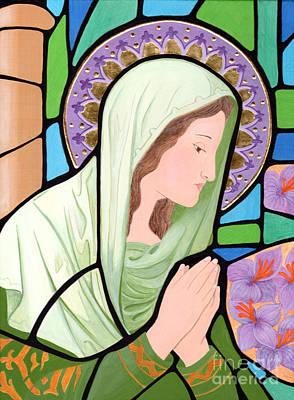 Egg Tempera Painting - Virgin Mary 6 by Jacqueline Savidge