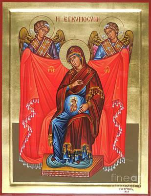 Greek Icon Painting - Virgin Mary In Pregnancy by Theodoros Patrinos