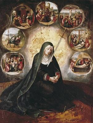 Hagiography Photograph - Virgin Of The Seven Sorrowsvirgin by Everett