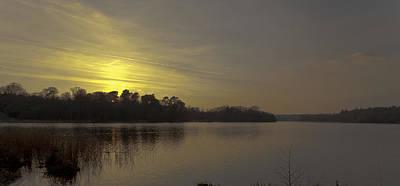 Sun Photograph - Virgina Water Sunset by Maj Seda