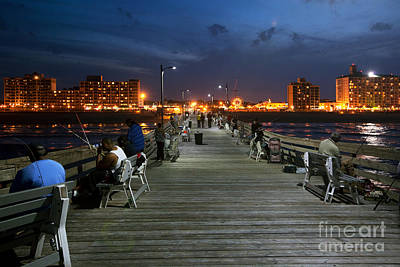 Virginia Beach Fishing Pier Print by Bill Cobb