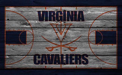 Virginia Cavaliers Print by Joe Hamilton