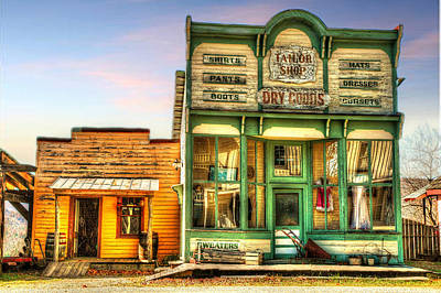 Virginia City Dry Goods Print by Mary Timman