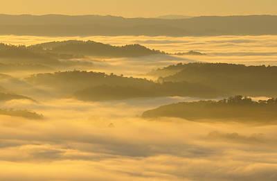 Pinnacle Overlook Photograph - Virginia Sunrise by Christian Heeb