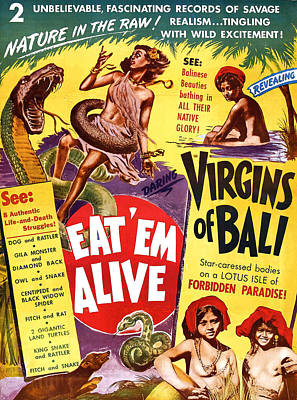 Virgins Of Bali Eatem Alive Print by Studio Release