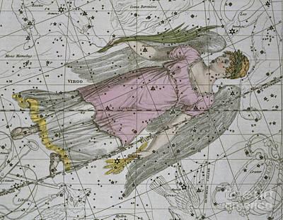 Virgo From A Celestial Atlas Print by A Jamieson