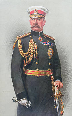 Pompous Painting - Viscount Kitchener Of Khartoum by Walter Wallor Caffyn
