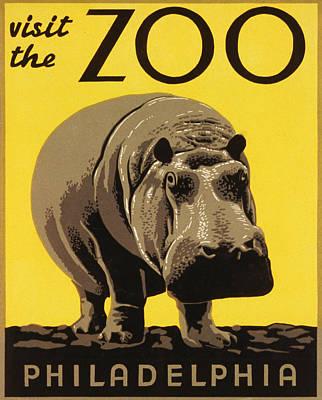 Hippopotamus Digital Art - Visit The Philadelphia Zoo by Bill Cannon