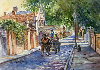 Buggy Painting - Visiting The S.o.b. Hood by Alice Grimsley