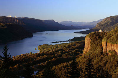 Landscape Photograph - Vista House And Columbia Gorge by Teresa Herlinger