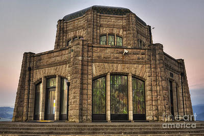 Sunset Photograph - Vista House by Mark Kiver