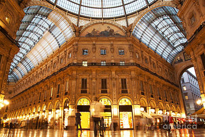 Old-fashioned Photograph - Vittorio Emanuele II Gallery Milan Italy by Michal Bednarek