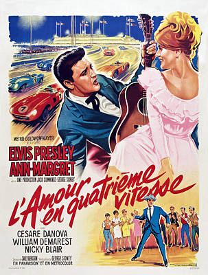 1960s Poster Art Photograph - Viva Las Vegas Aka Lamour En Quatrieme by Everett