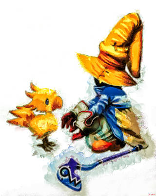 Gloves Digital Art - Vivi And The Chocobo by Joe Misrasi