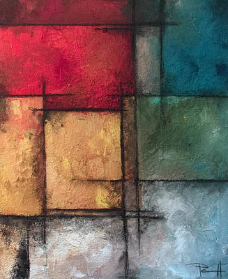 Grid Painting - Vivid by Sean Parnell