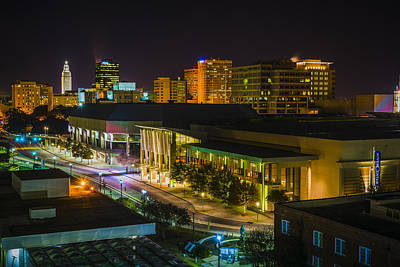 Hdr Photograph - Vividly Downtown Baton Rouge by Andy Crawford