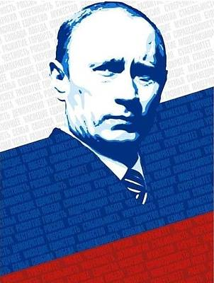 Moscow Mixed Media - Vladimir Putin  by Krystal M