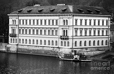 Prague Photograph - Vltava River History by John Rizzuto