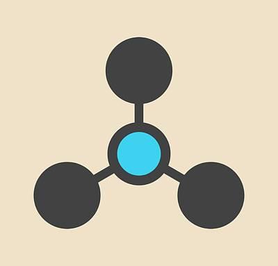 Volatile Tertiary Amine Molecule Print by Molekuul