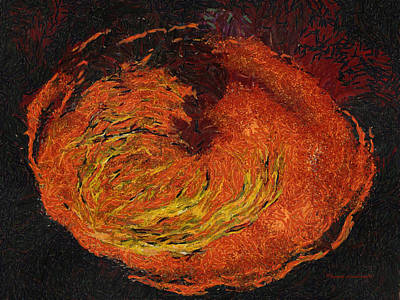 Volcano Photo Art 02 Print by Thomas Woolworth