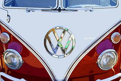 Volkswagen 21 Window Kombi Bus Print by Keith Webber Jr
