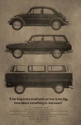 Bus Mixed Media - Volkswagen Advertisement by Dan Sproul