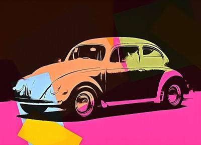 Beetle Mixed Media - Volkswagen Beetle Pop Art 2 by Dan Sproul