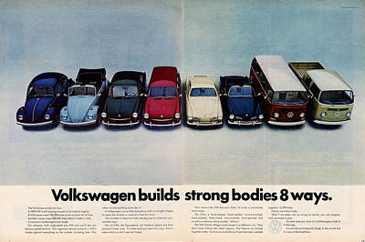 Volkswagen Builds Strong Bodies Eight Ways Print by Georgia Fowler