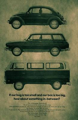 Bus Mixed Media - Volkswagen Poster by Dan Sproul