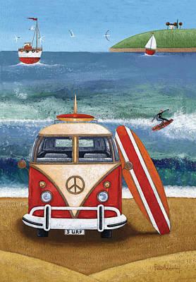 Photograph - Volkwagen Surfboard by Peter Adderley