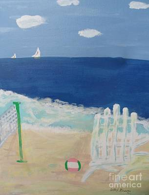 Volley Ball On The Beach Original by Bobbi Groves