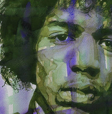 Rock Poster Painting - Voodoo Child by Paul Lovering