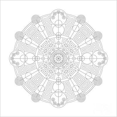 Reliefs Digital Art - Vortex by DB Artist
