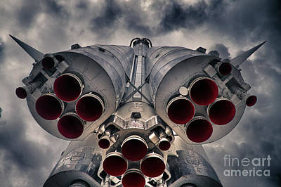 Aluminum Photograph - Vostok Rocket Engine by Stelios Kleanthous